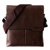 Мужская стильная удобная сумка коричневая (Е 54167)