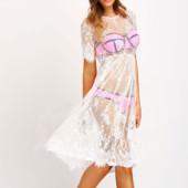 5-40 Кружевное платье / Прозрачный пеньюар / Парео /Сексуальное белье/ Эротическое белье