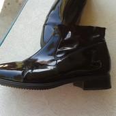 Черные лаковые Туфли-Ботинки