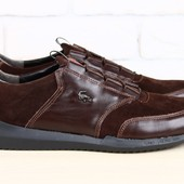 Туфли Lacoste, р. 40-45, натур. кожа, замша, черн, коричн, код nvk-2304-1
