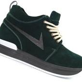 Женские демисезонные ботинки Viva Темно зеленые