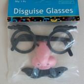 Маска смешная! Для малыша. Брови, очки, нос, усы!