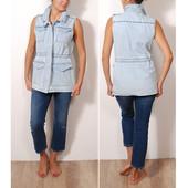 Удобная и модная жилетка с накладными карманами  JC35010