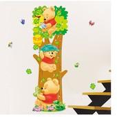 Ростомер-наклейка для детской комнаты Винни Пух