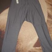 Мужские стильные осенние штаны с заниженной мотней.Испания.Утепленные.Р джинсовый 33-34