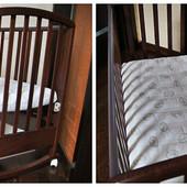 Кроватка детская б/у Baby Italia Dolly,+ матрас,наматрасник,простынки