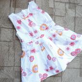 Нарядное летнее платье 3-4г (ог 60, дл 54)