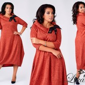 Теплое платье батал в расцветках