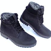 Зимние кожаные ботинки, 40-45 размеры