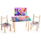Столик и два цветных стульчика Винкс Финекс плюс  (065)