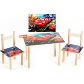 Столик и два цветных стульчика Тачки Финекс плюс  (062)