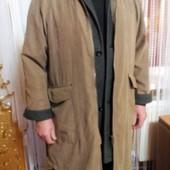 Мужское демисезонное плащ-пальто на синтепоне Р 52-56 ПОГ-60 см.