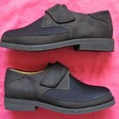 Новые (44, 28,5 см) кожаные туфли монки мужские
