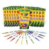 Набор карандашей (12 шт) с резинкой для стирания! Crayola.