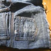 Юбка мини джинсовая рванка/ р.10/38/М + подарок