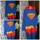 Слип,человечек флисовый,пижамка Супермен размер L.Укр почта +13 грн.