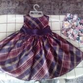 Нарядное платье для маленькой принцессы 12-18мес