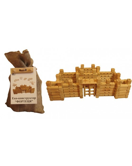 Деревянный эко конструктор фортеця 171892 крепость дерево  фото №1
