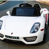 Электромобиль Porsche spyder M 2765 eblr-1, колеса EVA, белый
