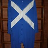 Пижама хлопковая, мужская, размер L, рост до 190 см