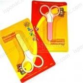 Ножницы с колпачком детские ,  2 цвета