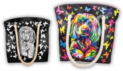 Набор для творчества my color bag сумка-раскраска песик, котик, бабочки, пони, совы фото №1
