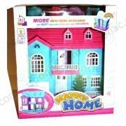 Домик для кукол с  мебелью , 22х12х25 см. фото №1