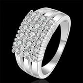 Стильное кольцо покрытие серебро 925