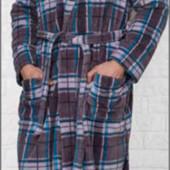 Мужской теплый халат   м-л  хл-2хл