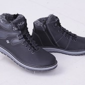 Зимние ботинки из натуральной кожи для мужчин