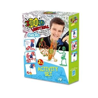 Набор для детского творчества с 3d маркером - неон (3d маркер-2 штуки, шаблон, аксессуары) фото №1