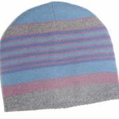 шапка двойная вязанная на 2-7 лет