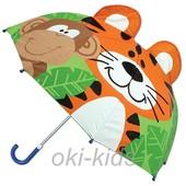 Детский зонтик 3D ушки. Тигренок.