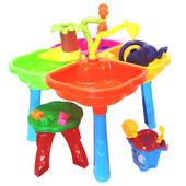Песочный столик с набором и стульчиком 01-121-1
