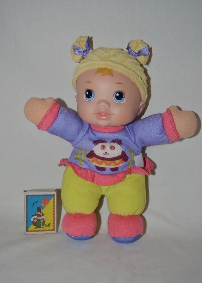 baby alive luv 'n snuggle from hasbro мягко набивная первая кукла с с погремушкой в пузике фото №1