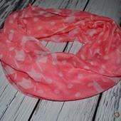 Очень модный фирменный яркий снуд шарф платок эффектный как женщине так и девочке