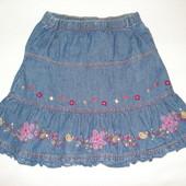 юбка джинсовая на 6-7 лет