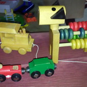 Деревянные игрушки Поезд