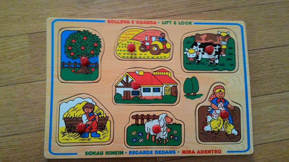 Деревянная рамка вкладыш ферма фото №1