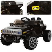 Детский электромобиль Джип 2016Ebrls-3-1, черный (автопокраска, EVA колеса)