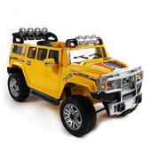 Детский электромобиль Джип Hummer 255EBR-6, желтый