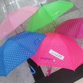 Зонт 6 видов, в горошек, со свистком, в пакете 50 см C12688