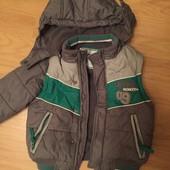 Продам куртку (жилетку) трансформер осень-зима на мальчика рост 92 см фирма Сool Club