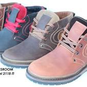 Зимние кожаные ботинки для подростка