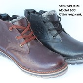 Мужские зимние ботинки, кожа
