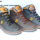 Кожаные ботинки для мужчин, зима, 3 цвета