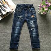 Модные джинсы мальчику  рост 140