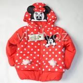 Детская утепленная куртка микки 92-110р. года