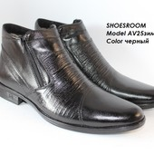 Классические зимние ботинки, натуральная кожа