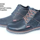 Зимние мужские ботинки Levis, кожаные